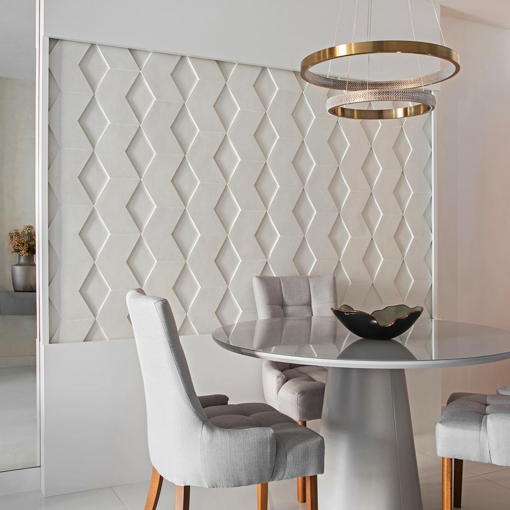 Esagonale compõe ambiente intimista e elegante integrado à varanda gourmet