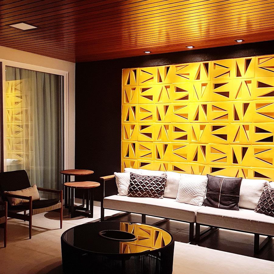 """Uma parede """"solar"""", mas com conforto térmico, beleza e proteção"""